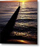 Sunrise On The Coast Metal Print