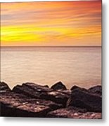 Sunrise On The Jetty Texas Metal Print