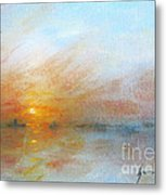 River Sunrise Metal Print