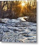 Sunrise On The St Vrain River Metal Print