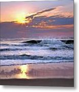 Sunrise On The Waves Metal Print
