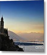 Sunrise Over An Alpine Lake Metal Print