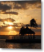 Sunrise Over Bay Metal Print