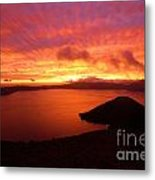 Sunrise Over Crater Lake Metal Print