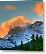 Sunrise Over Crowsnest Pass, Border Metal Print