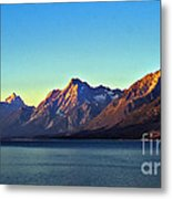 Sunrise Over Jackson Lake Metal Print