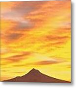 Sunrise Over Mount Hood, Portland Metal Print