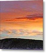 Sunrise Over Teslin Lake, Yukon Metal Print