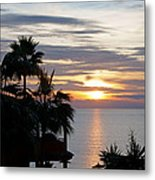 Sunrise Over The Mediterranean Metal Print