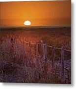 Sunrise Over The Pampa Of Argentina San Metal Print