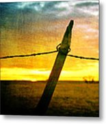 Sunrise Over The Prairie Metal Print