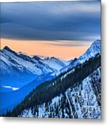 Sunrise Over The Rockies Metal Print