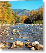 Sunrise Over The Saco Vertical Metal Print by Geoffrey Bolte