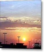 Sunrise Over The Shopping Mall Metal Print