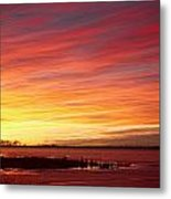 Sunrise Over Union Reservoir In Longmont Colorado Boulder County Metal Print