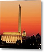 Sunrise Over Washington Dc Metal Print