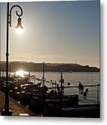 sunrise - First dawn of a spanish town is Es Castell Menorca sun is a special lamp Metal Print