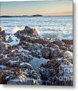 Sunrise Rocks Metal Print