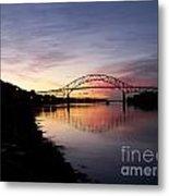Sunrise Sagamore Bridge Metal Print
