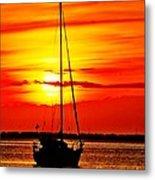 Sunrise Sailing Metal Print
