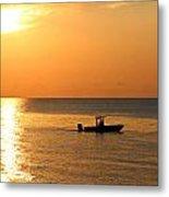 Sunrise Sport Fishing Metal Print