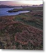 Sunrise View Of Clogher Beach Metal Print