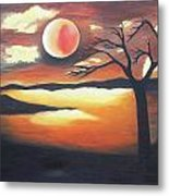 Sunset - Oil Painting Metal Print by Rejeena Niaz