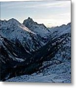 Sunset About St. Anton Metal Print
