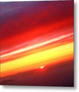 Sunset Above The Clouds Metal Print