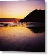 Sunset And Sea Metal Print