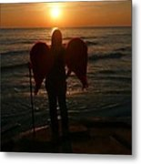 Sunset Angel Metal Print