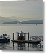 Sunset Aquatic Beach Centre Vancouver Bc Canada Metal Print by Andy Smy