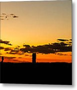 Sunset Arches Metal Print