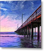 Sunset At Avila Beach Metal Print