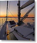 Sunset At Burlington Harbour ... Metal Print