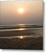 Sunset At Campground Beach Eastham Ma Cape Cod Metal Print