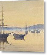 Sunset At Constantinople Metal Print by M Baillie Hamilton