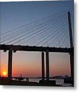 Sunset At Dartford Bridge Metal Print
