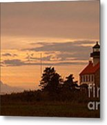 Sunset At East Point Light  Metal Print