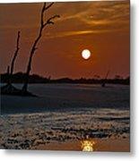 Sunset At Folly Island Sc Metal Print