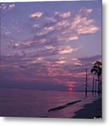 Sunset At Fountianbleu State Park Metal Print