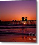 Sunset At Oceanside Pier Metal Print