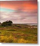 Sunset At Pointe D''agon Metal Print