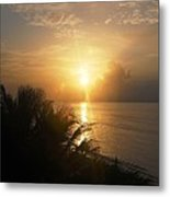 Sunset At Rincon Metal Print