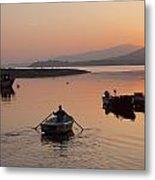 Sunset At Rosdohan Pier Near Sneem Metal Print