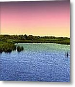 Sunset At Sandpiper Pond Metal Print
