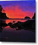Sunset At Sunset Bay Metal Print