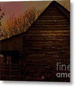 Sunset At The Barn Metal Print