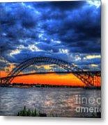 Sunset At The Bayonne Bridge Metal Print