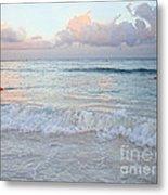 Sunset At The Beach Yucatan Peninsula Mexico Metal Print